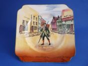 Royal Doulton 'Barnaby Rudge' Dickens Ware Series 'A' Square Side Plate D5175 c1935